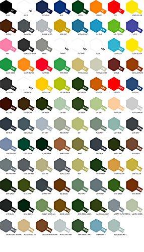 Tamiya 6 Botes de Pintura acrílica Serie X- XF (a Elegir de la Carta de Colores)