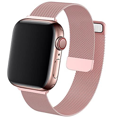 SIERVOS Armband Kompatible mit Apple Watch Armband 38mm 42mm 40mm 44mm 41mm 45mm, Metall Edelstahl mit Magnet Ersatzarmband Kompatible mit iWatch Series SE/7/6/5/4/3/2/1