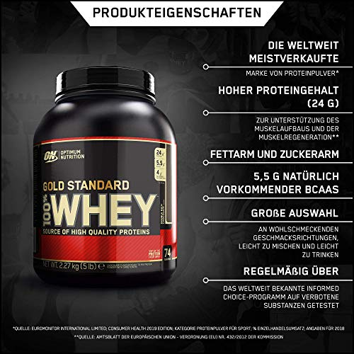 Optimum Nutrition Whey Gold Standard Protein, Double Rich Chocolate, 1er Pack (1 x 2273 g) - 5