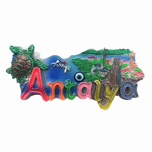 3D-Kühlschrankmagnet Antalya Türkei, Reise-Souvenir, Geschenk, Zuhause, Küche, Kühlschrank, Dekoration,...