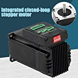 PerGrate New Upgraded Version Ring Stepper Motor, Closed Loop Motor Stepper Integrated Digital for Robots Cutting Marking CNC Router Engraving Machine JSS57P2N, Black