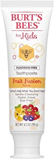 Burts Bees Toothpaste Kids Fruit Fusion 4.2 Ounce No Flouride (3 Pack)