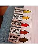 250 lustige Haftnotizen als Klebezettel (5 x 50 Blatt), Lesezeichen, Notizblock oder Sticky notes,...