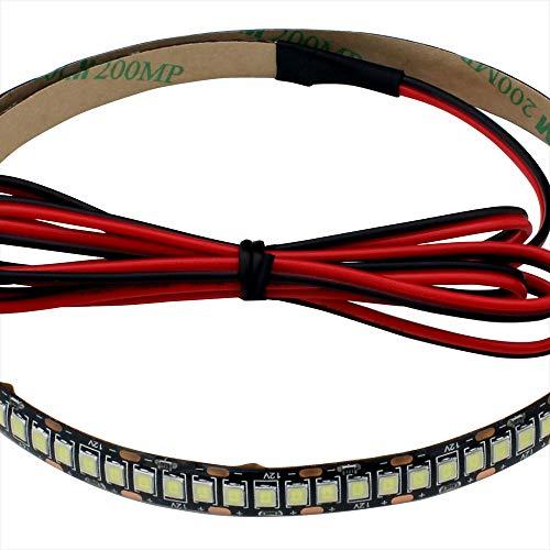 LEDテープライト (1本) 12V 高密度(240LED/m) 防水 1チップ 500cm (黒ベース) 発光色:電球色