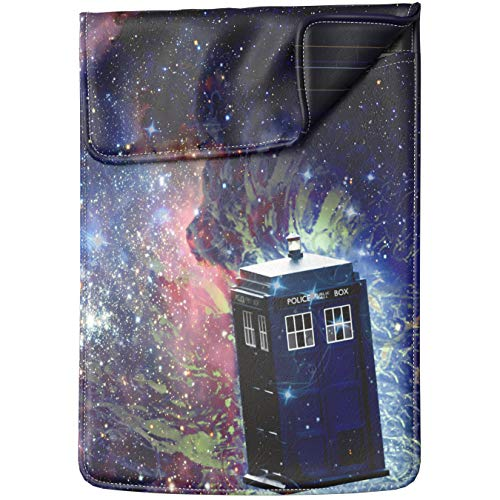 Lex Altern Laptop Sleeve Case for MacBook Air 13 Mac Pro 16 15 Retina HP Dell ASUS Acer Lenovo 11 12 14 17 inch 2020 Galaxy Doctor Who TV Show Movie Police Call Box Protective Design Women Leather