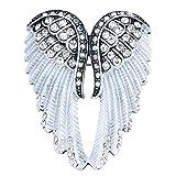 Szxc Women's Guardian Angel Wings Pin Brooches & Pendants 2-in-1 - Women Girls Biker Jewelry - 2 inch