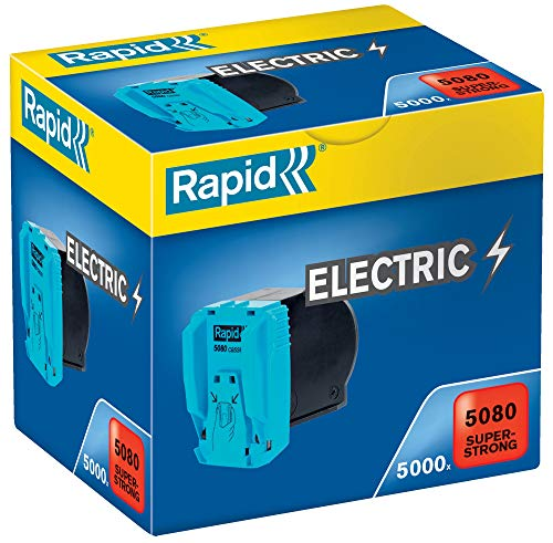 RAPID 20993700 - Cassette grapas 1x5000 para grapadoras eléctricas 5080E