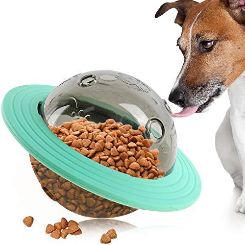 pwsap Hundefutter Ball, Hund IQ Treat Spender Interaktive Snack Feeding Ball Spielzeug für Hunde Katze, Interaktive Intelligenz Food Dispenser Ball Haustier Nahrung Ball, Futterball für Hunde Grün