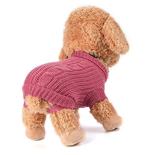 Fossrn Ropa Perro Pequeño Chihuahua Yorkshire Pomerania Invierno Jersey de Punto cálido suéter Cachorro Abrigo