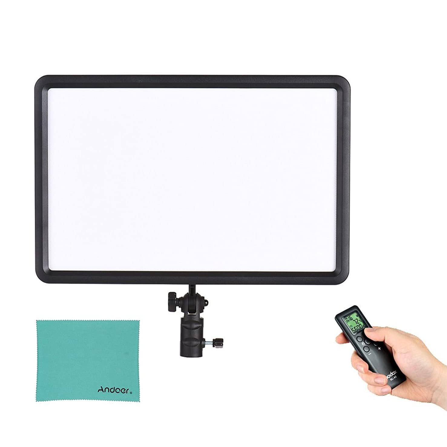 Godox LED P260C Ultra-Thin 30W Dimmable LED Video Light Panel Lamp 3200K-5600K Bi-Color Temperature with Wireless Remote Control Handle for Cannon Nikon Sony Digital DSLR Camera Studio Photography