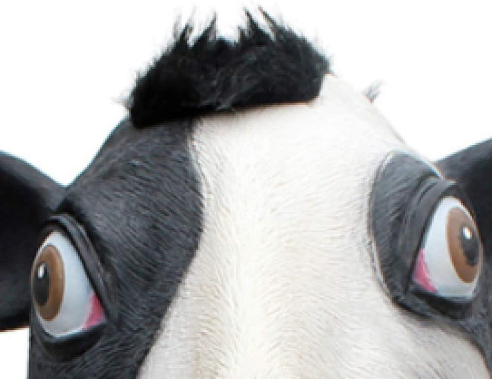 WWWL masker halloween Halloween dier masker latex dier hoofd masker gras modder voor Halloween kostuum partij rekwisieten A4 A3