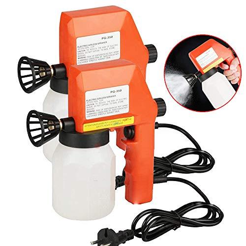2 delige set 600ml Handheld Electric verfspuitmachine, Milieu Air desinfectie Fogger Fles voor Household Car Office, Fog volume regelbaar, Red