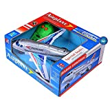 mQFIT Airplane Toy Radio Control Running Plane / Moving Aeroplane with Light