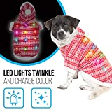 K9 Casuals Ugly Sweater Dog Hoodie with Lights   Puppy Hoodie with Blinking Lights   Light-up Christmas Dog Sweater for XSmall Dogs...
