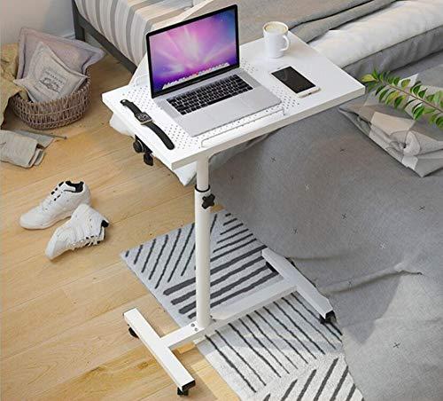 HCYTPL Klaptafel, verstelbare tafel met sleuf mobiele laptop computer standplaats nachtkastje draagbare bijzettafel voor bed, bank, C
