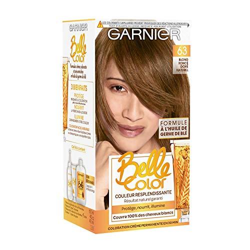 Garnier - Belle Color - Coloration permanente Châtain - 63 Blond foncé doré naturel