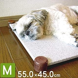 ペット暑さ対策ひんやりマット 犬・猫用クールベッド (Mサイズ, 白系)