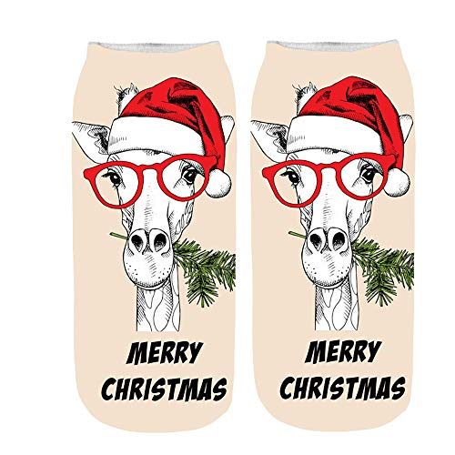 TEBAISE Karneval Weihnachten socken Damen & Mädchen Wollsocken Wintersocken Bunte Dicke Warme Socken 1er-Pack Einheitsgröße