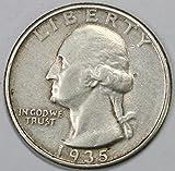 1935 P Silver Washington Quarter 25c VF