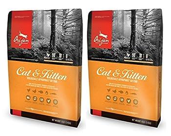 2x 5.4kg Orijen Cat et chaton Poulet, Dinde et nourriture pour chat Poisson Lot