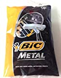 Bic Metal Quality Disposable Men's Shaving Razors, Best Single Blade, 10-count -