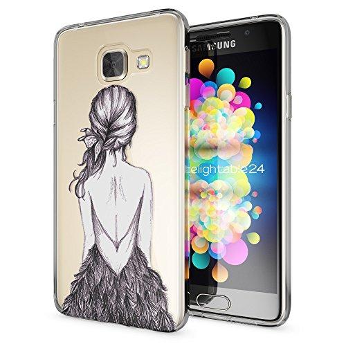 NALIA Funda Carcasa Compatible con Samsung Galaxy A5 2017, Motivo Design Movil Protectora Ultra-Fina Silicona Cubierta, Goma Gel Estuche Bumper Ligera Cover Phone Case, Motiv:Bird Princess