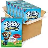 Teddy Grahams Cinnamon Graham Snacks, 10 Ounce (Pack of 6)