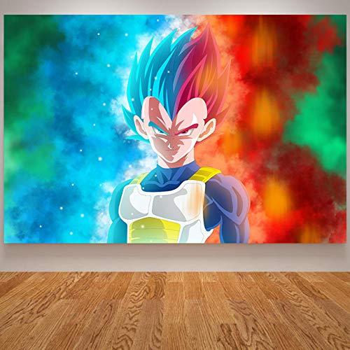 tzxdbh Anime Poster Goku Gohan Kids Babykamer Poster Japanse Wall Art Cavnas Schilderen Muur Foto's voor Slaapkamer Quadro White 60x90 Cm Unframed