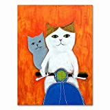 Xykhlj Pintura por numeros - Gato de Dibujos Animados de Animales - Lienzo preimpreso - Pintura DIY para Adultos - Regalo para Adultos o niños - 40x50cm - Sin Marco