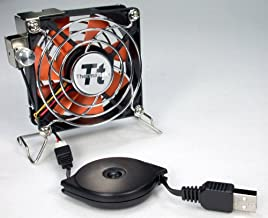 Thermaltake Mobile Fan II Adjustable Speed External USB Cooling Fan with One-touch Retractable USB power cable box for Notebook Laptop Desktop. A1888