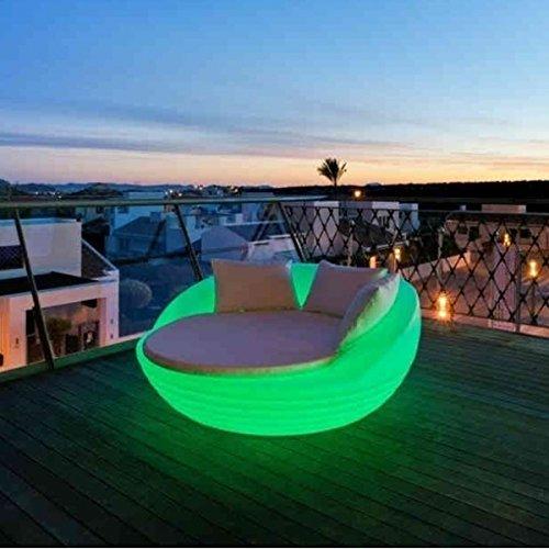 La Vida en Led Lit Balinaise avec lumière LED Formentera Canapé Changement de couleur