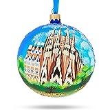 BestPysanky La Sagrada Familia, Barcelona, Spain Glass Ball Christmas Ornament 4 Inches