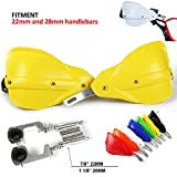 Universal Handguards Hand guards 7/8 inches 22mm and 1 1/8 inches 28mm PP Plastic guard For Suzuki RM RMZ DRZ 250 400 DRZ400S DRZ400SM Fat Bar Motocross Motorcycle Racing Supermoto Dirt Bike YELLOW