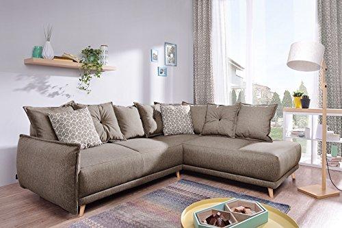 Canapé d'angle Beige Scandinave Confort