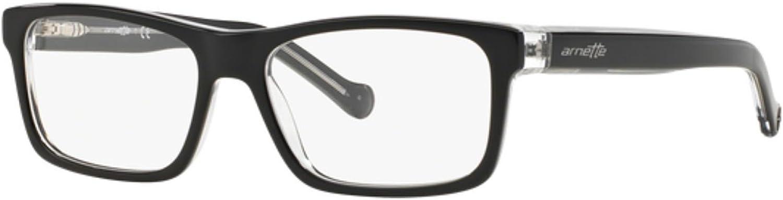 Arnette Scale Unisex Eyeglasses, 1019 Black Translucent, 4915135