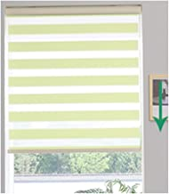 LIQICAI Roller Shades for Windows Zebra Roller Blinds Horizontal Window Shade Day and Night Blinds Dual Layer Polyester Fabric Energy Efficient Light Green, Multiple Sizes (Size : 85cmx150cm)