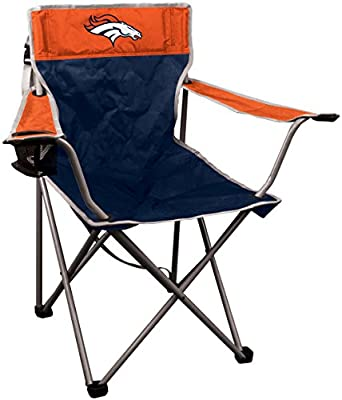 Portable Canvas Folding Kickoff Chair with Cup Holder and Carrying Case (All Team Options)