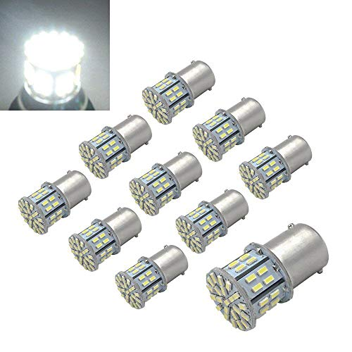 Efoxcity 12V 1156 10 Pack Bright 1156 1141 1003 50-SMD White LED Bulbs For Car Interior RV Camper light (1)