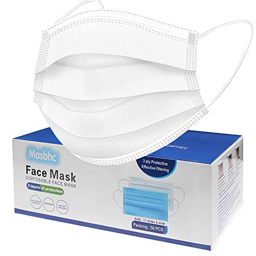 Disposable Face Mask Dust Particle 3-Layer Design Mask with White