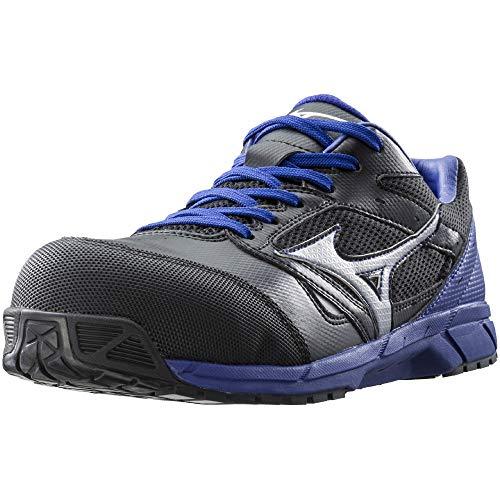 [ミズノ]安全靴オールマイティLS軽量紐JSAA・普通作業用(A種)ブラック×シルバー×ブルー27cm3E