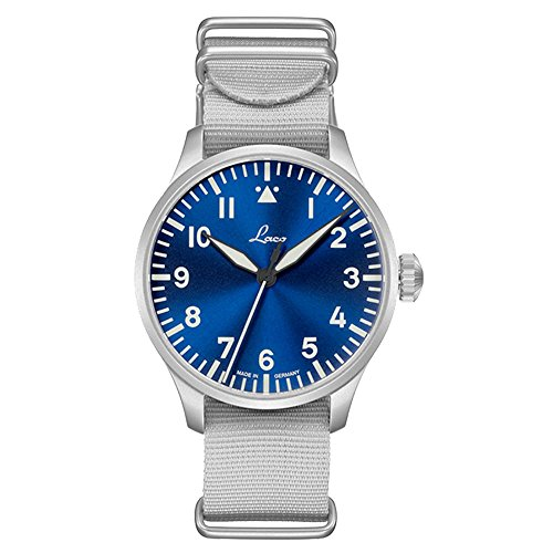 Laco - Orologio da aviatore base Augsburg, 42 ore blu, made in Germany, Ø...