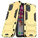 iPhone 11 Pro Case, Folice [2 in 1 Series] Dual Layer Hard Slim Hybrid Armor Hard Back Case Cover with Kickstand for Apple iPhone 11 Pro 2019 (Gold)