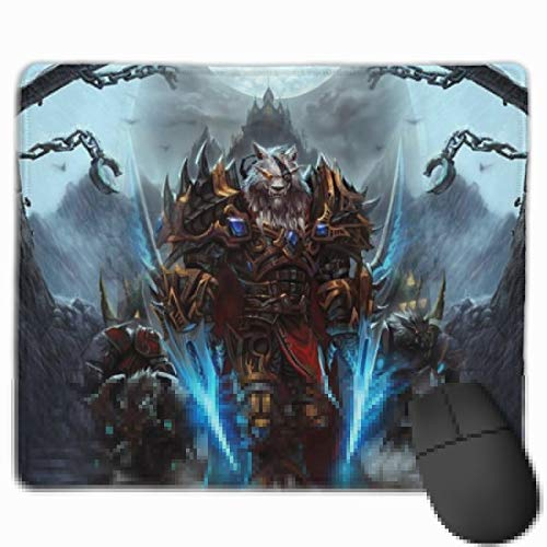 World of War-CRA-ft Mouse Pad SYL-vanas Cool No-Slip Durable Gaming Mouse Mat Thickened Design Waterproof Stitched Edges and Rubber Base for Office Computer Laptop Home Travel Use(11.8x9.8 inch)
