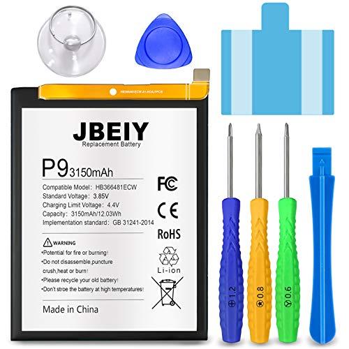 JBEIY Bateria para Huawei P9/ Honor 8, Nueva de 3350 mAh Baterías de Alta Capacidad, Trabaja para P9Lite P10 Lite P20 Lite Nove 3E, con Herramientas de Instalación Profesionales-1 año de Garantía