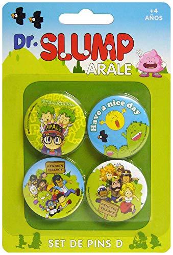 DR Slump PERSONAJES Set D DE 4 PINS DR Slump