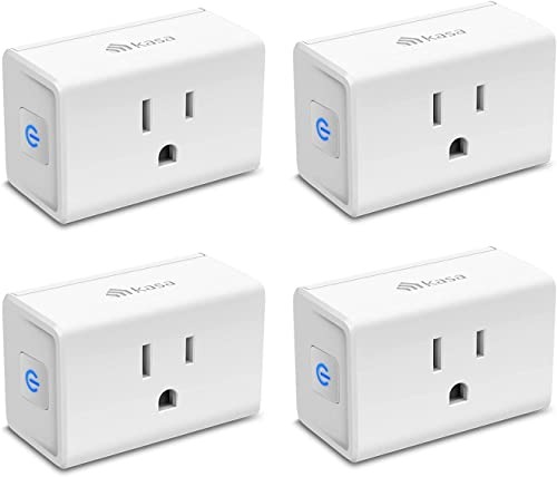 Kasa Smart Plug Mini 15A Smart Home Wi-Fi Outlet Works with Alexa Google Home & IFTTT No Hub Required UL Certified 2.4G WiFi Only 4-Pack(EP10P4)  White