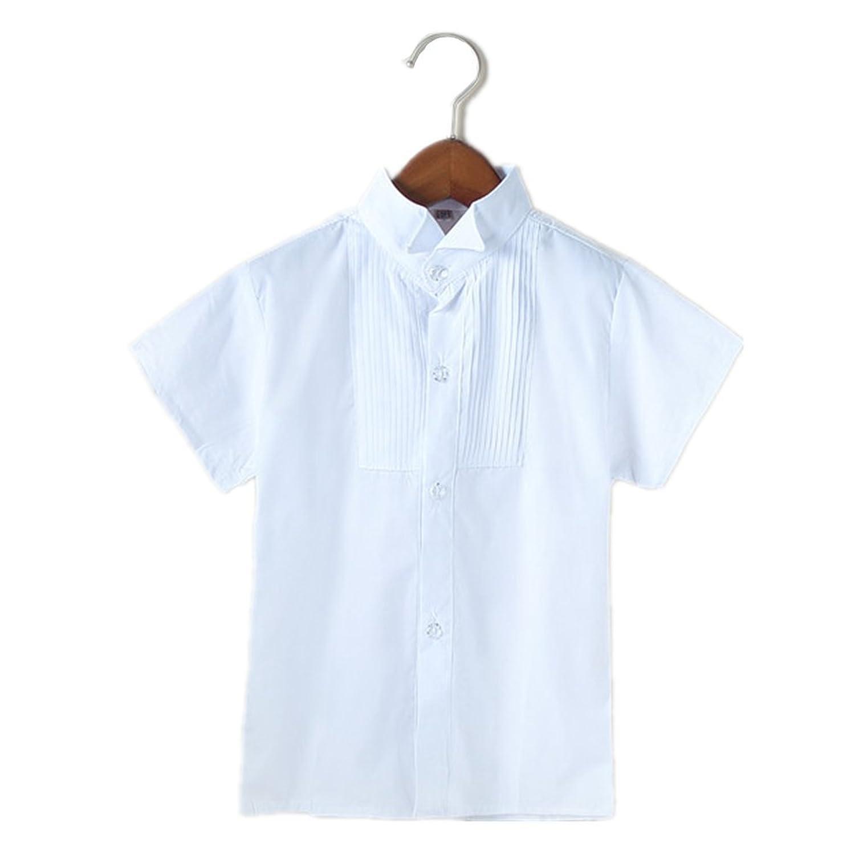 De-Lovely子供 ワイシャツ シャツ無地Yシャツ キッズ 結婚式 発表会 男の子 卒業式 入学式 90 100 110 120 130 140 150