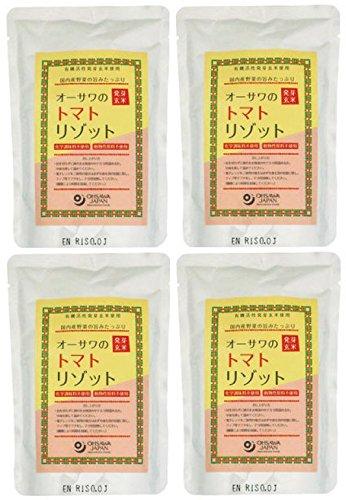 発芽玄米トマトリゾット200g×4個★有機活性発芽玄米を使用★トマトベースで玉ねぎ、にんじん、ごぼう、ともろこしを加えて炊き上げました。野菜ブイヨンで味付け。ノンオイル★国産野菜の旨みが凝縮★有機発芽玄米(秋田・山形産)、玉ねぎ(国内産)、トマトピューレ(