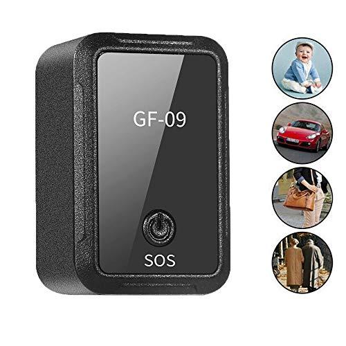 Lusenbo GF09 Mini GPS Tracker Dispositivo de Seguimiento de adsorción magnética Fuerte para el Coche Posicionamiento en Tiempo Real Antirrobo antirrobo Localizador GPS