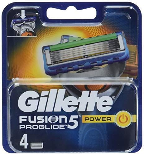 Auslaufmodell Gillette Fusion 5 ProGlide Power Rasierklingen für Männer, 4 Stück
